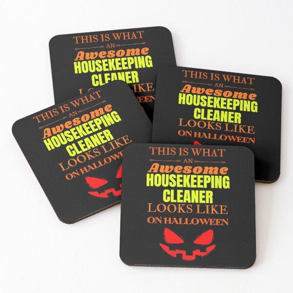 Housekeeping cleaner Coasters (Set of 4)