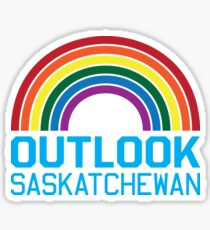 Outlook Rainbow Sticker