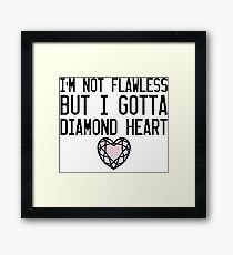 Diamond Heart Framed Print