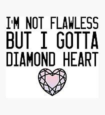 Diamond Heart Photographic Print
