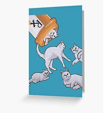 Addicted to Cats Greeting Card