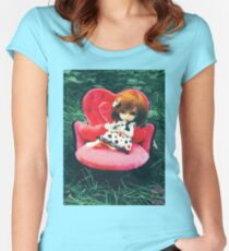 Candyce in Wonderland Women's Fitted Scoop T-Shirt
