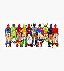 Superhero Butts LV Photographic Print