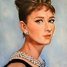 portrait of Audrey Hepburn by Hidemi Tada