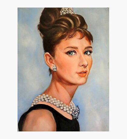 portrait of Audrey Hepburn Photographic Print