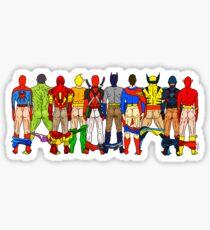 Superhero Butts LV Sticker