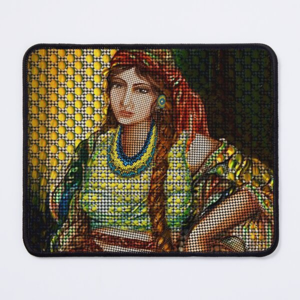 Arab Bedouin Woman Mouse Pad