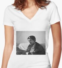 Classy Smoking Obama Women's Fitted V-Neck T-Shirt