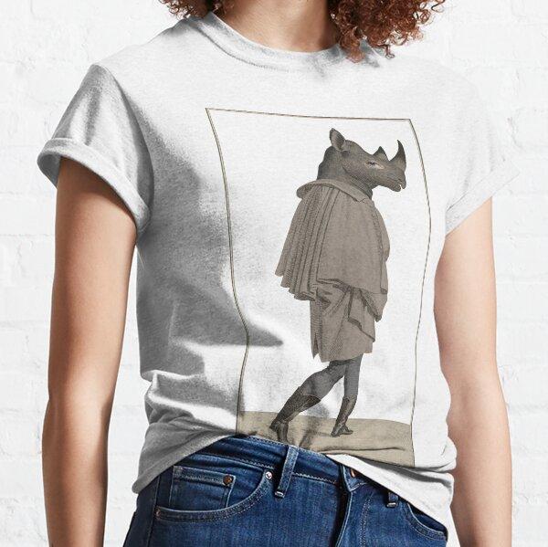Vintage rhino gentleman collage Classic T-Shirt