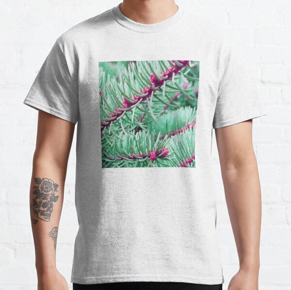 Green And Pink Pine Needles Classic T-Shirt