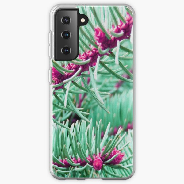 Green And Pink Pine Needles Samsung Galaxy Soft Case