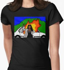 Waiting  2 Exhale Womens Fitted T-Shirt