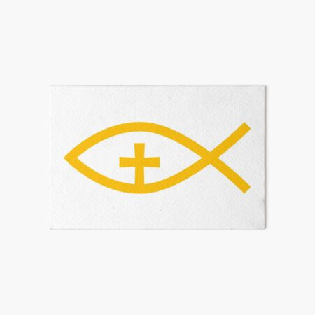 Christian Symbol Art Board Print