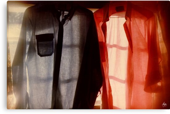 Two Shirts in a Window, Study Number 1 by Wayne King