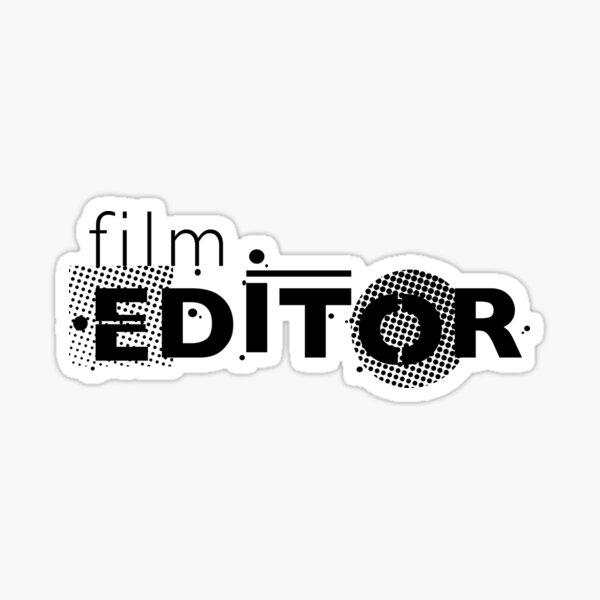 Film Crew. Film Editor. Sticker