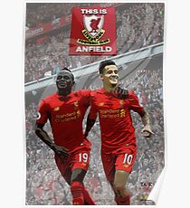 Coutinho Mane Anfield Range Poster