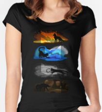 Warrior Cats: Four Elements, Four Clans Women's Fitted Scoop T-Shirt