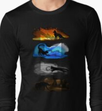 Warrior Cats: Four Elements, Four Clans Long Sleeve T-Shirt