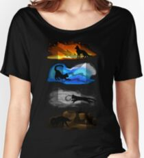 Warrior Cats: Four Elements, Four Clans Women's Relaxed Fit T-Shirt