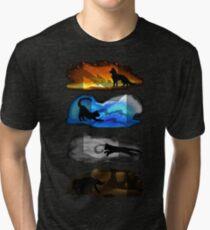 Warrior Cats: Four Elements, Four Clans Tri-blend T-Shirt