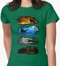 Warrior Cats: Four Elements, Four Clans Womens Fitted T-Shirt