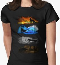Warrior Cats: Four Elements, Four Clans Women's Fitted T-Shirt