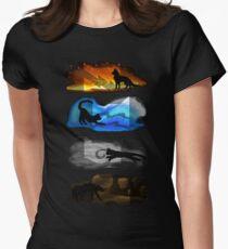 Krieger Katzen: Vier Elemente, vier Clans Tailliertes T-Shirt für Frauen