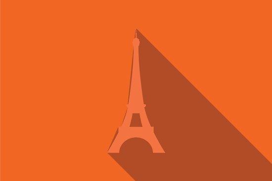 World landmark, Eiffel Tower, Paris, France, Europe by BlueLela