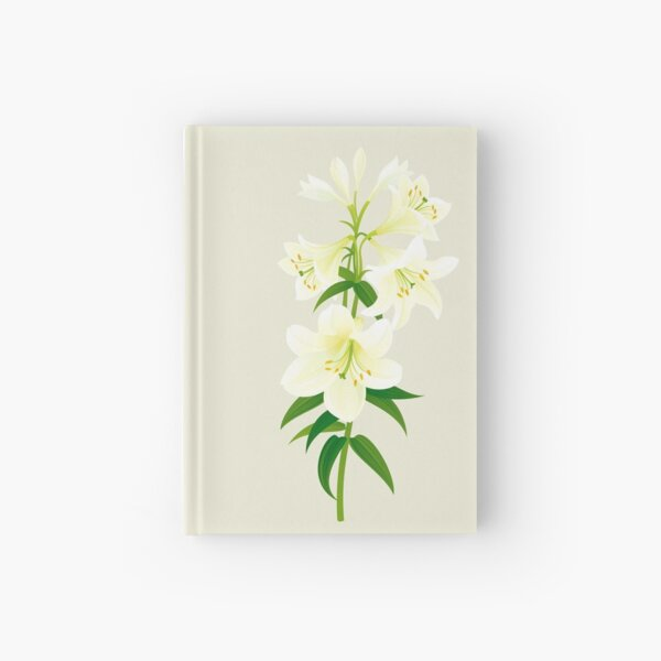 White Lily Hardcover Journal