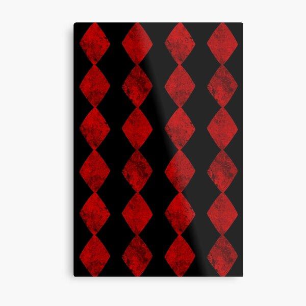 Red Diamond Card Suit Symbol Pattern Metal Print