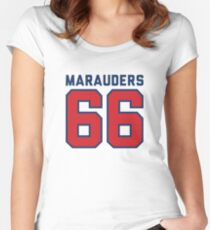 Marauders 66 Grey Jersey Women's Fitted Scoop T-Shirt