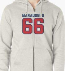 Marauders 66 Grey Jersey Zipped Hoodie