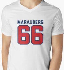 Marauders 66 Grey Jersey Men's V-Neck T-Shirt