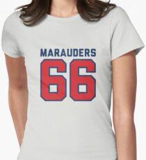 Marauders 66 Grey Jersey Women's Fitted T-Shirt