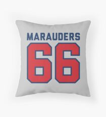 Marauders 66 Grey Jersey Throw Pillow