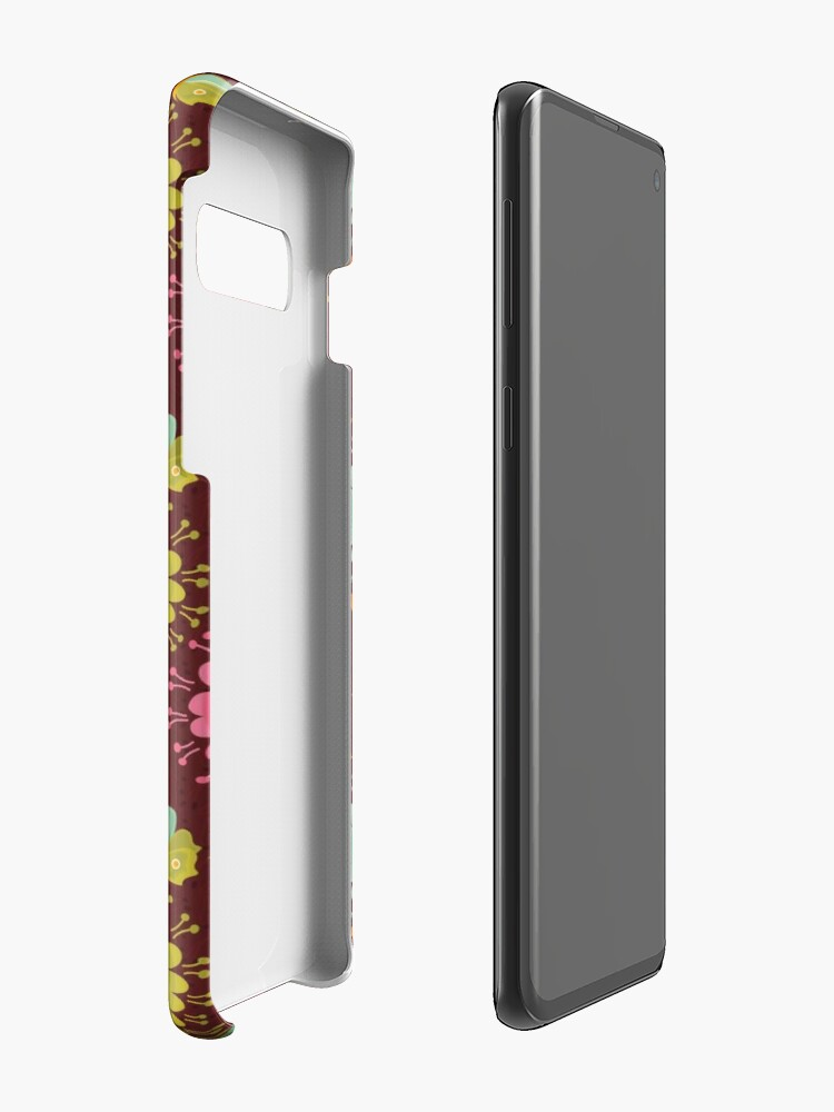 Alternate view of Brown Floral Pattern Case & Skin for Samsung Galaxy