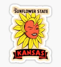 Kansas KS State Vintage Travel Decal Sticker
