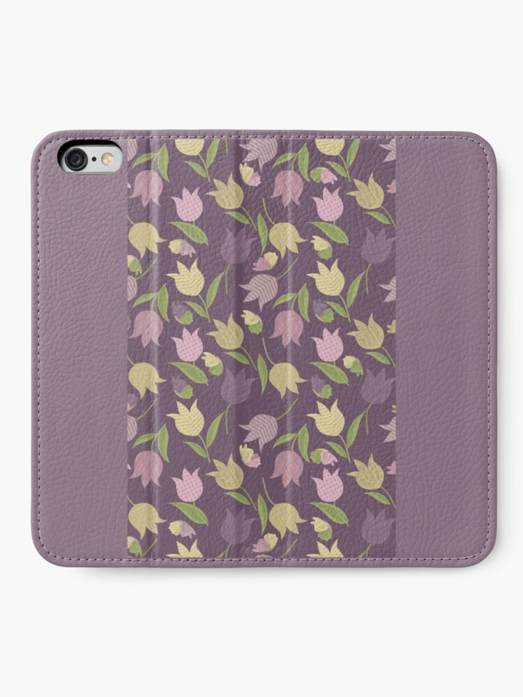 Alternate view of Tulips Pattern  iPhone Wallet