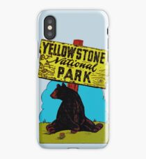Yellowstone National Park Wyoming Vintage Travel Decal iPhone Case/Skin