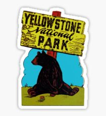 Yellowstone National Park Wyoming Vintage Travel Decal Sticker