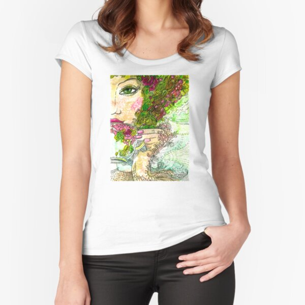Morning Coffee Fitted Scoop T-Shirt