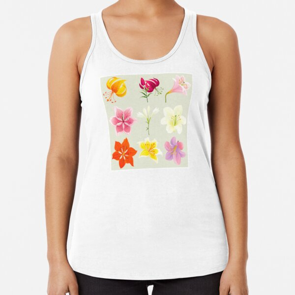 Colorful Lilies Racerback Tank Top