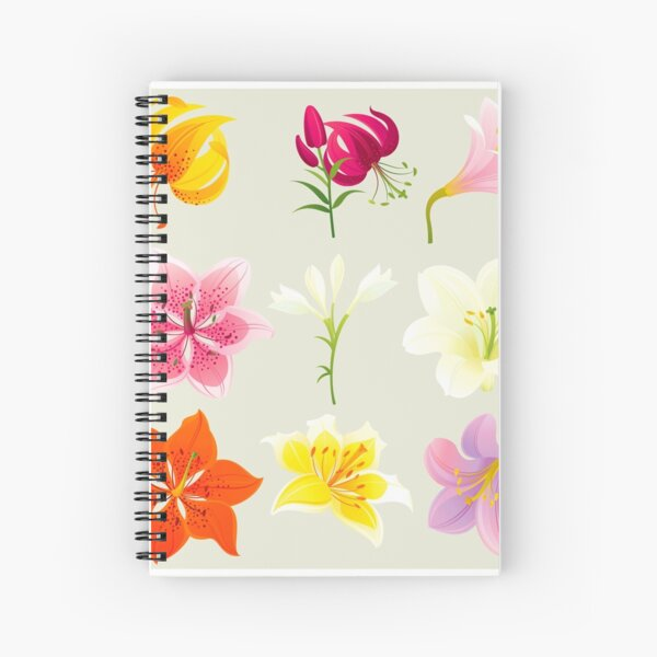 Colorful Lilies Spiral Notebook