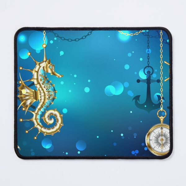 Submerged Mechanical Seahorse Mouse Pad
