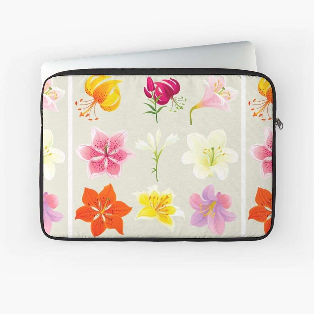 Colorful Lilies Laptop Sleeve