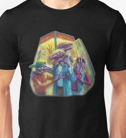 Raptors in a Phone Booth Unisex T-Shirt