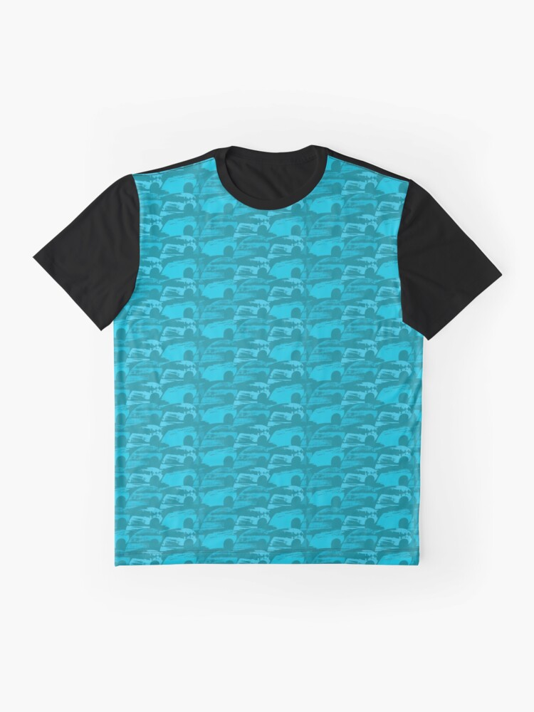 Alternate view of Wave Pattern Graphic T-Shirt