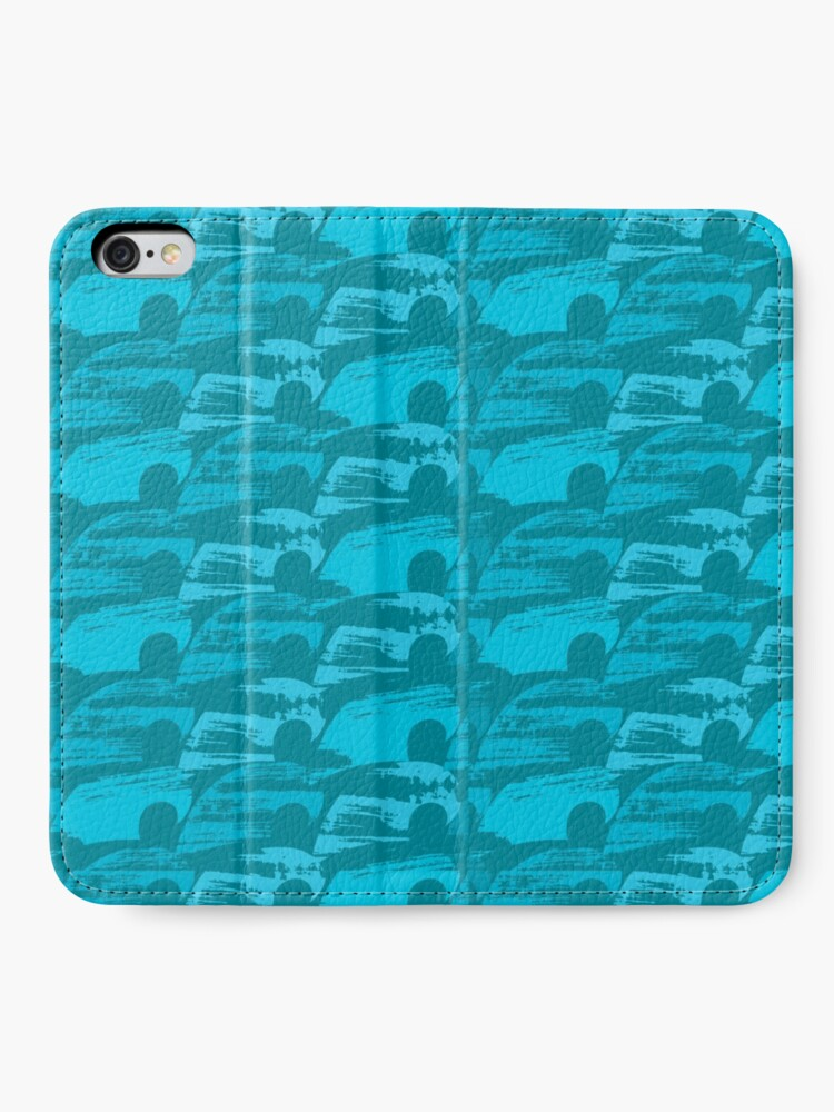 Alternate view of Wave Pattern iPhone Wallet