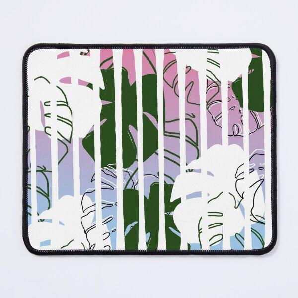 Monstera stripes Mouse Pad