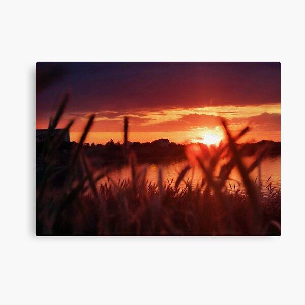 Beautiful Sunset By The Lake Canvas Print